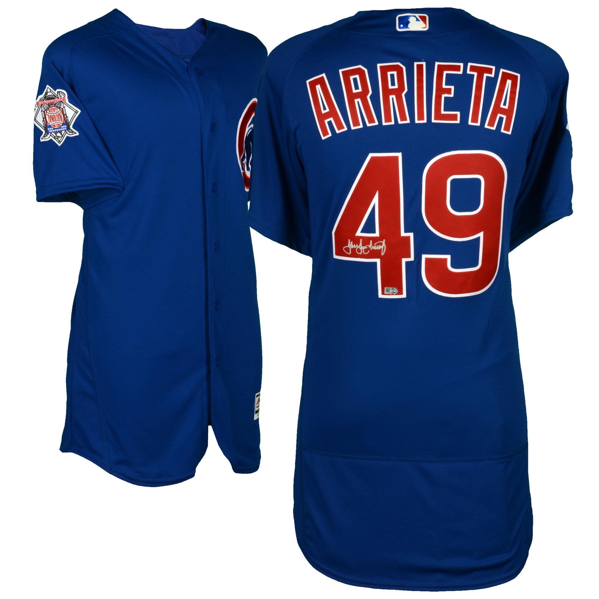 Jake Arrieta Chicago Cubs Fanatics Authentic Autographed Majestic Blue Authentic Jersey - No Size