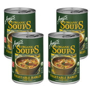 (4 Pack) Amy's Organic Low Fat Vegetable Barley Soup, 14.1 oz