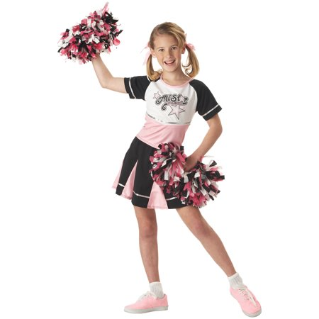 California Costumes Girls All Star Cheerleader Costume with Pom Poms