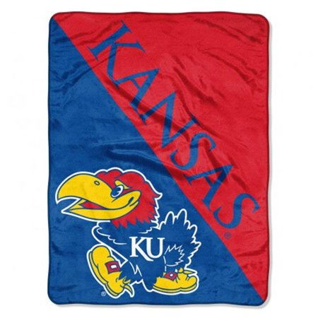 "NCAA Kansas Jayhawks ""Halftone"" 46""x 60"" Micro Raschel Throw (Jayhawks Throw)"