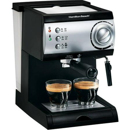 Hamilton Beach 15-Bar Italian Pump Espresso Maker, Black and Stainless - Walmart.com