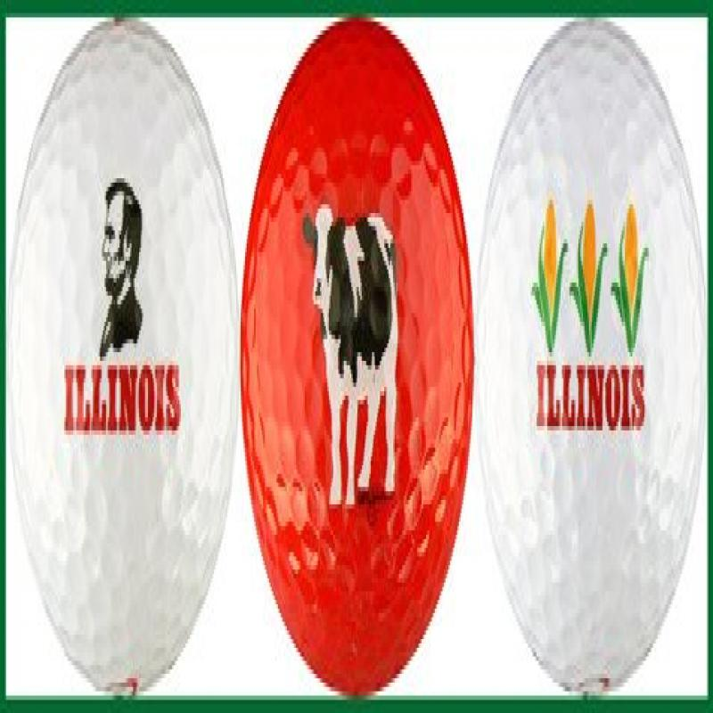 Illinois Variety Golf Ball Gift Set by