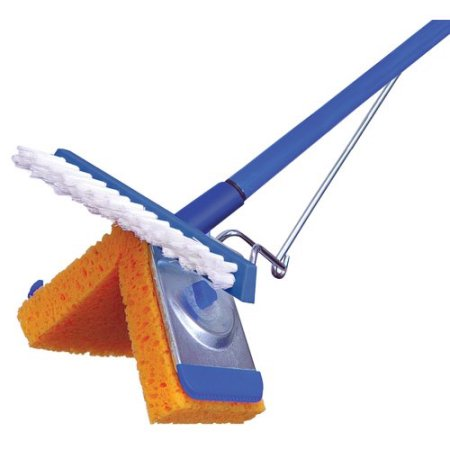 Superio Sponge Mop with attachable scrubbing brush