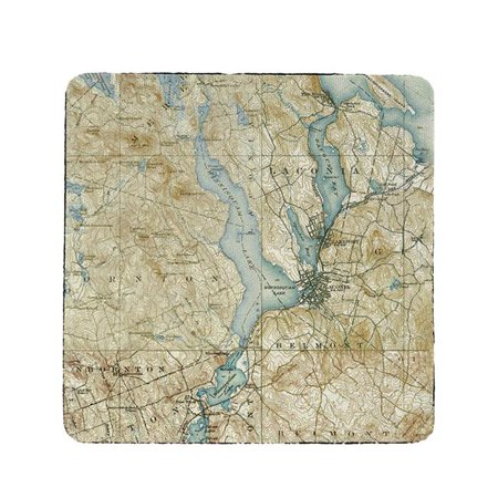 Halloween Stores In Nh (Betsy Drake CT309 4 x 4 in. Lake Winnisquam, NH Nautical Map Coaster - Set of)