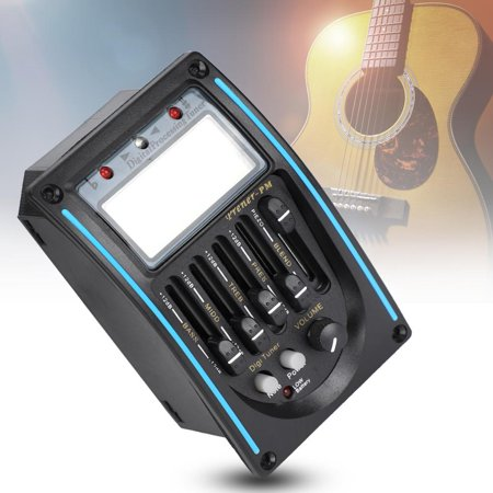 5 Band Acoustic Electric Guitar Preamp EQ Equalizer Pickup Tuner Instrument Tool, 5 Band Guitar Pickup,Pickup