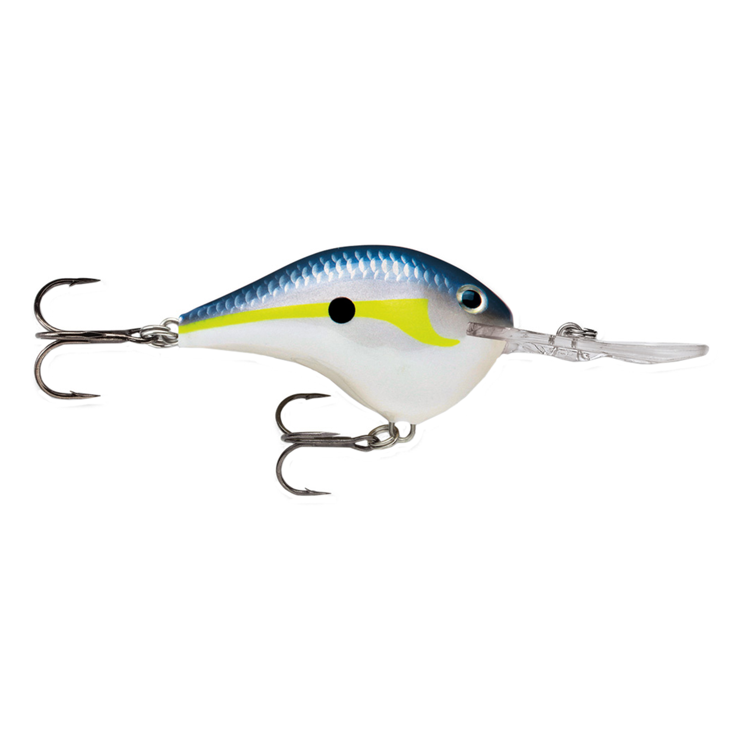 "Rapala Dives-To Series Custom Ink Lure Size 06, 2"" Length, 6' Depth, 2 Number 5 Treble Hooks, Helsinki Shad, Per 1 by Rapala"