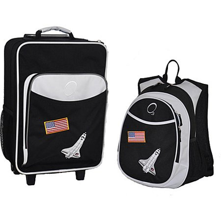 O3 Obersee Kids 'Space Shuttle' 2-piece Backpack and Carry On Upright Luggage Set