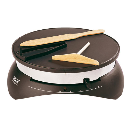 "Krampouz Electric Crepe Maker 13"", Base L 15 3/8"" x W 15 1/8"" x H 5 3/8"""