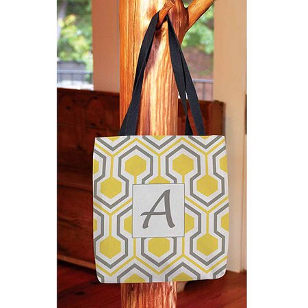 Honeycomb Monogram Tote Bag