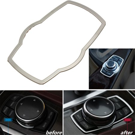 Stainless steel Interior Multimedia buttons Cover Trim for BMW 3-SERIES 5-SERIES F30 316 320 328 525 13 14 X1 X3 X5 X6 - image 12 de 12