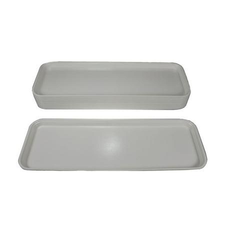 12ct Cambro Fiberglass White Rectangular Market Display Tray 926MT148 Bulk Lot White Rectangular Tray
