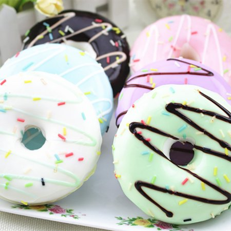 Squishy Squeeze Stress Reliever Soft Colourful Doughnut Scented Toys
