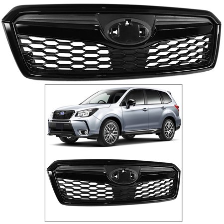 - STI Style Front Grille for Subaru Forester 2014-2018 Complete Glossy Black Trim