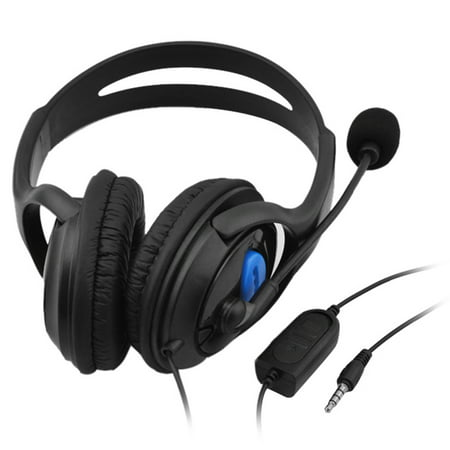 3.5mm Wired Gaming Headphones Over Ear Game Headset Stereo Bass Earphone with Microphone Volume Control for PC Laptop PS4 Smart Phone - image 4 de 6