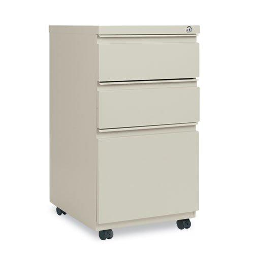 Alera Mobile Pedestal 3 Drawer Vertical File Cabinet With Casters And  Full Length Pull