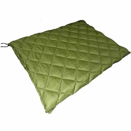 Ozark Trail Double Adult Sleeping Bag With Movable Line, Green