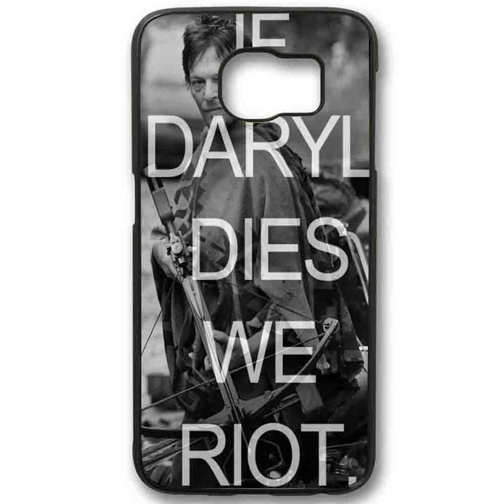 Ganma The Walking Dead If Daryl Dies We Riot Case For Samsung Galaxy Case (Case For Samsung Galaxy S5 White)
