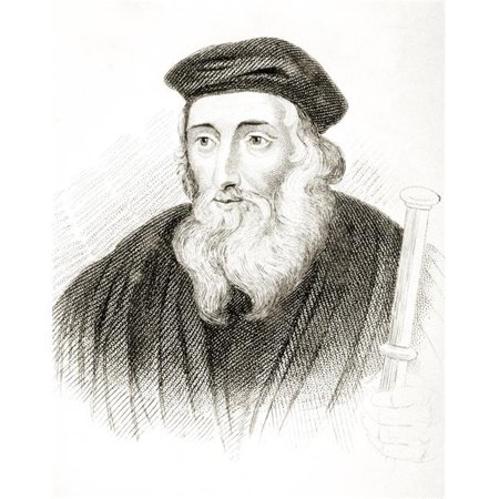Posterazzi  John Wycliffe Also Spelled Wycliff Wyclif Wicliffe Wiclif C 1330-1384 English Theologian Philosopher & Church Reformer From Old Englands Worthies by Lord Brougham & Others Published - image 1 of 1