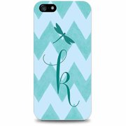 OTM Critter Collection Apple iPhone 5 Case, Zig/Zag, Teal Dragonfly, K