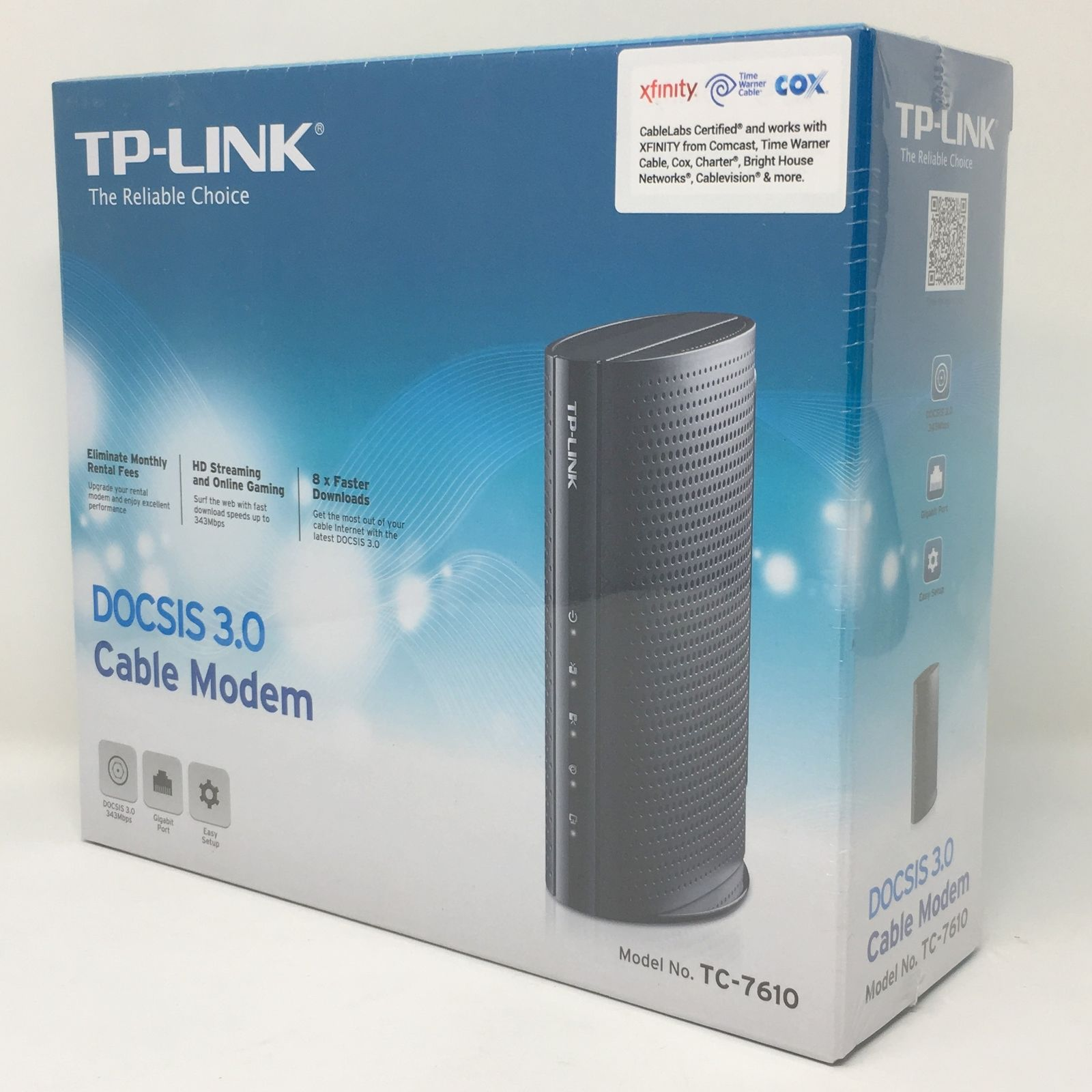 TP-LINK DOCSIS 3.0 High Speed Cable Modem Spectrum XFINITY Time Warner Cox