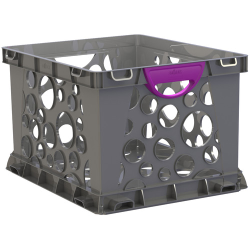 STOREX Recycled Crate with Handle (Set of 3)