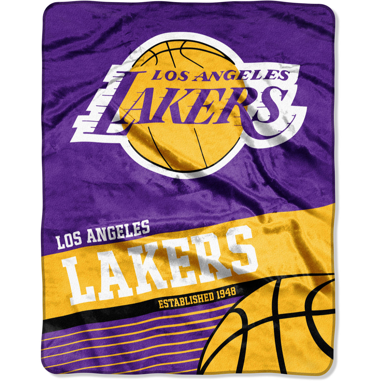 "NBA Los Angeles Lakers ""Fastbreak"" 55"" x 70"" Silk Touch Throw"