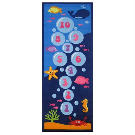 Underwater Hopscotch Area Rug (2 ft. 4 in. L x 1 ft. 6 in. W (1 lbs.))