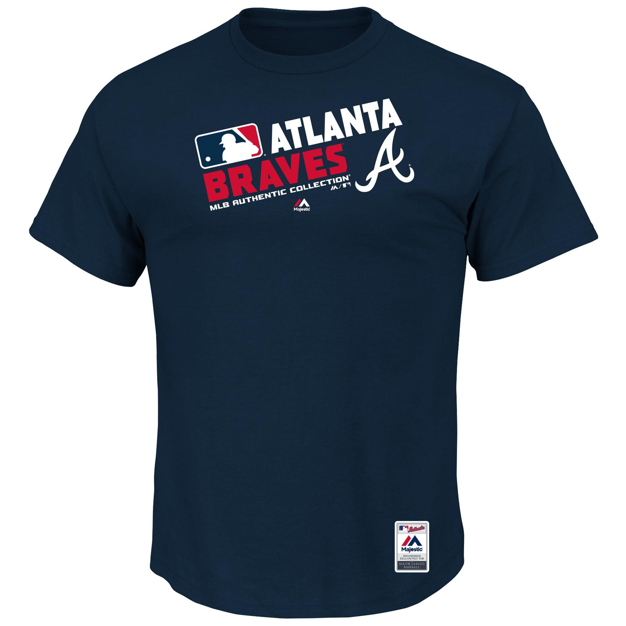 Atlanta Braves Majestic Team Choice T-Shirt - Navy