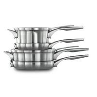 Calphalon Premier Space Saving Stainless Steel Cookware Set