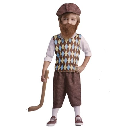 Toddler Lil Bearded Boys Golfer Costume Baby Golf (Men's Golfer Costume)