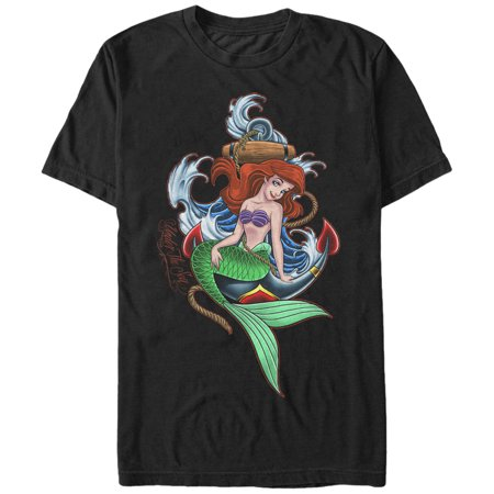7d3d75af6a8820 The Little Mermaid - The Little Mermaid Men s Ariel Anchor T-Shirt -  Walmart.com