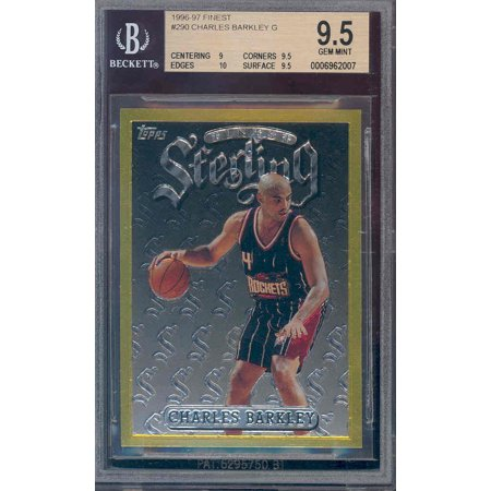 1996 97 Finest Gold  290 Charles Barkley Bgs 9 5 10  Pop 2