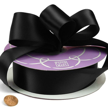 Black Satin Ribbon 1/8