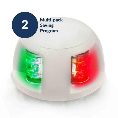 Deck Mount Navigation Light (Five Oceans Deck Mount Bi-Color Combination LED Navigation Bow Light, 12V (Pair))