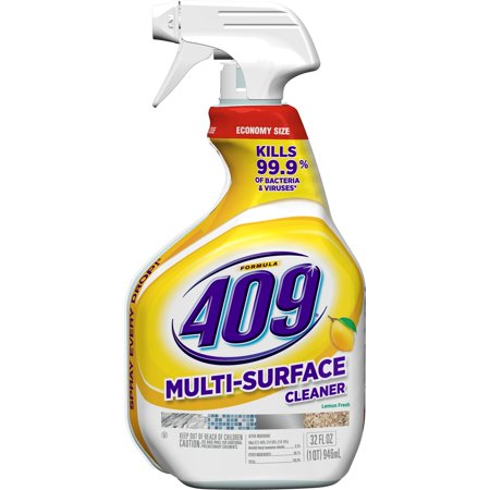 (2 pack) Formula 409 Multi-Surface Cleaner, Spray Bottle, Lemon, 32 oz - Multi Purpose Degreaser