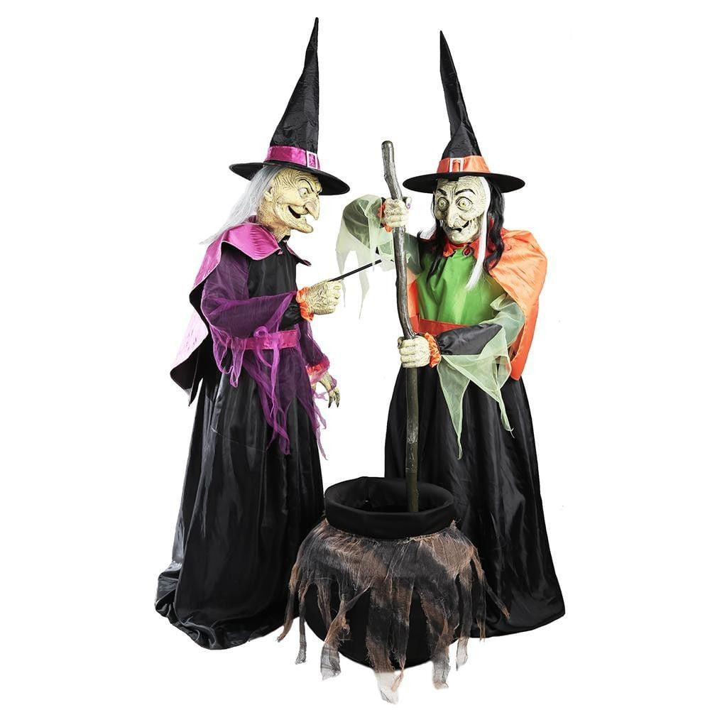 Home Accents Holiday Halloween Yard Decoration 72 In Wicked Cauldron Witches Party Props 5124522 Brickseek