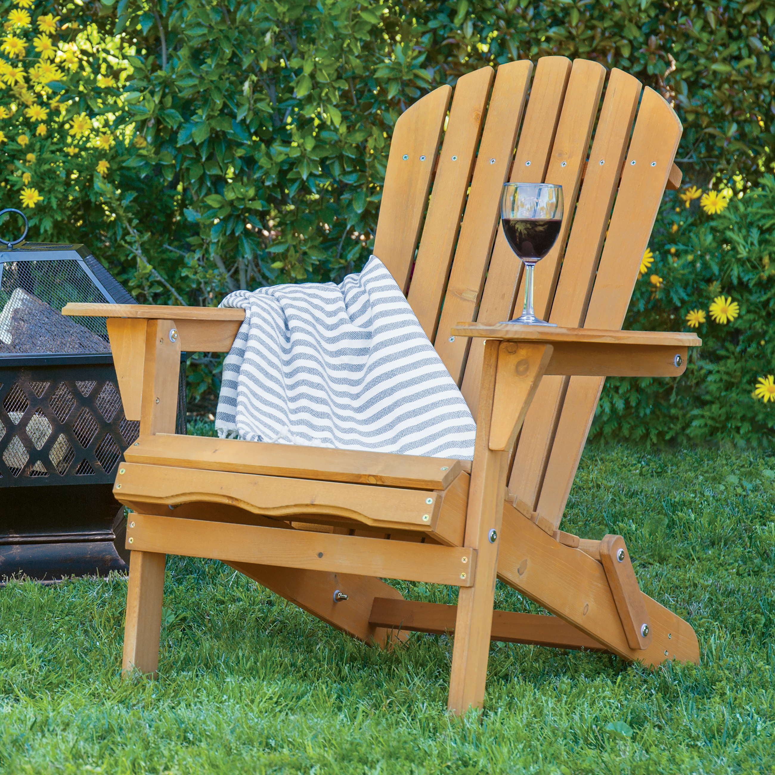 Adirondack Chairs. Best Choice Products Outdoor Adirondack Wood Chair  Foldable Patio Lawn Deck Garden Furniture