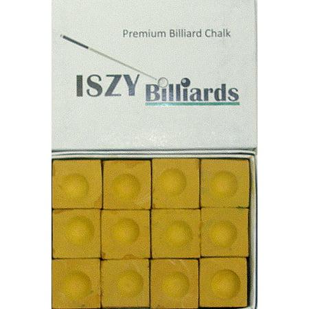 Premium Billiard Stick - Pool Cue  Chalk Mustard Quantity 12 Pieces