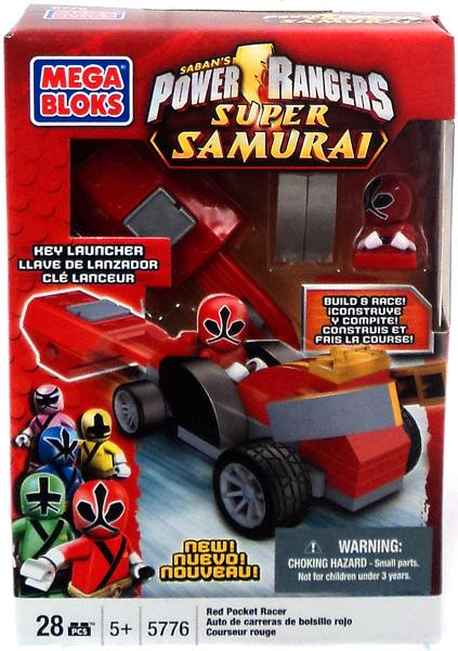 Mega Bloks Power Rangers Super Samurai Red Pocket Racer Set #5776 by Inmyparentsbasement.com