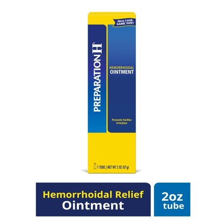 Preparation H Hemorrhoid Symptom Treatment Ointment, Itching, Burning and Discomfort Relief, Tube (2.0 (Home Remedies For Vaginal Itching And Burning)