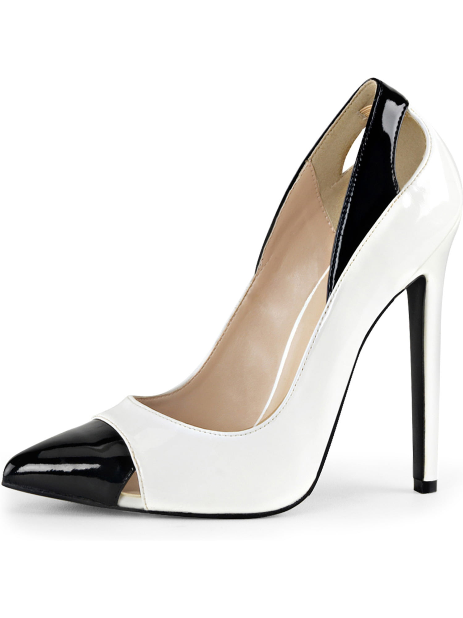 Cheap Black And White Heels