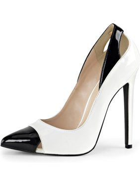 d37f623cc58 Product Image Womens Black and White High Heels Spectator Pumps Pointed Toe  Shoes 5 Inch Heel