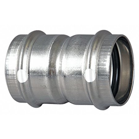 Viega Propress Stainless 304 Coupling with stop, 2