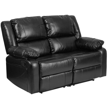 Pemberly Row Leather Reclining Loveseat in (Back Reclining Loveseat)