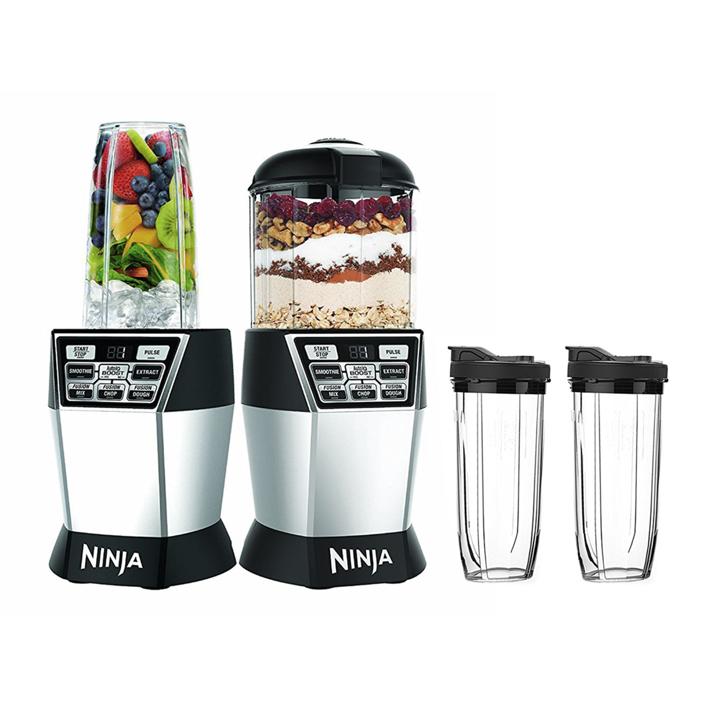 Nutri Ninja Nutri Bowl 1200W Duo Blender with Auto-IQ (Certified Refurbished)