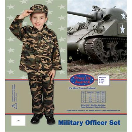 Army Dress For Kids (Dress Up America Deluxe Army Dress Up Children's Costume)