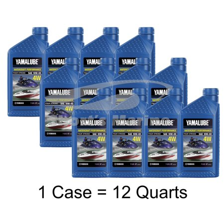 Yamaha Yamalube 10W-40 Mineral 4W 4-Stroke Watercraft Oil Case of 12 Quarts