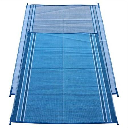Fireside Patio Mats Hawaiian Blue 5 Ft X 7 Polypropylene Indoor Outdoor