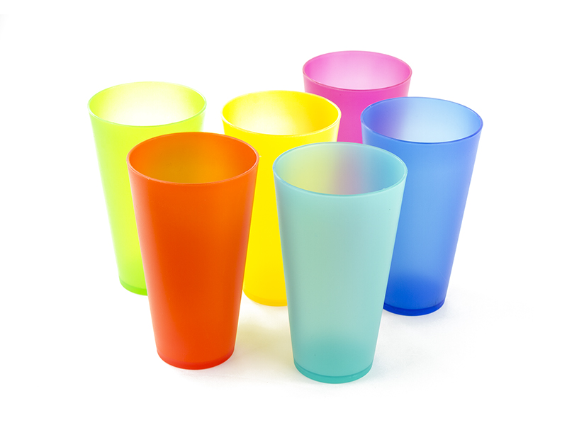 6 Pcs Plastic Cups 16 Oz Tumbler Cups Reusable Plastic Party Cups by Imperial Home