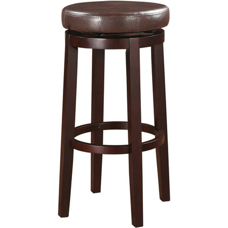 Vinyl Cushion Seat Bar Stool (Linon Maya Bar Stool, Multiple Colors, 29 inch Seat Height)